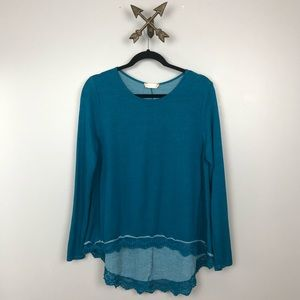 Altar'D State Womens Blue thin sweater size small